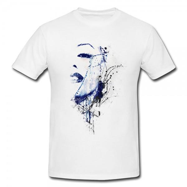 Marilyn Monroe IV Premium Herren und Damen T-Shirt Motiv aus Paul Sinus Aquarell
