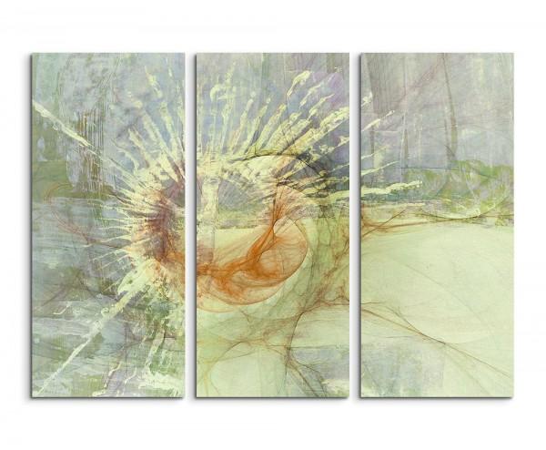130x90cm Wandbild Abstrakt 1475 -3x90x40cm