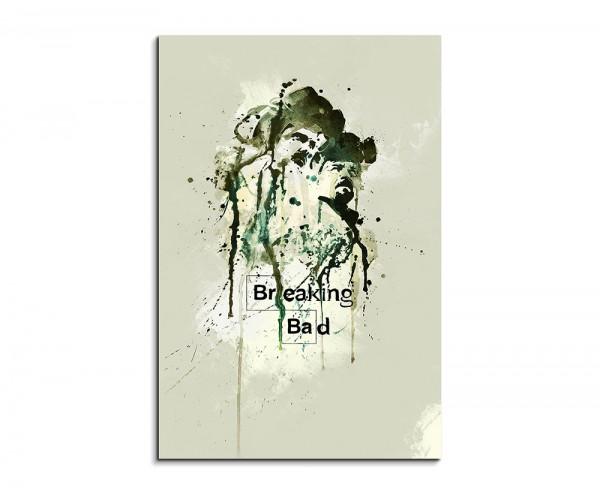 Breaking Bad 90x60cm Aquarell Art Wandbild auf Leinwand fertig gerahmt Original Sinus Art