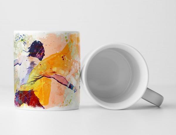 Tennis V Tasse als Geschenk, Design Sinus Art