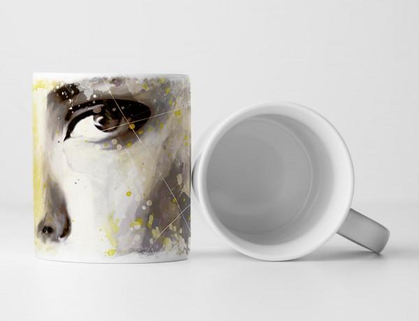 Adriana Lima V Tasse als Geschenk, Design Sinus Art