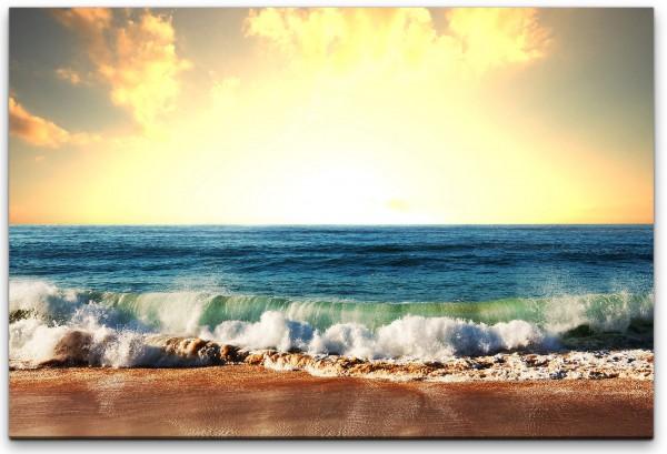 Sonnenuntergang am Strand Wandbild in verschiedenen Größen