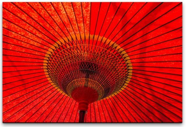 Japanischer Regenschirm Wandbild in verschiedenen Größen