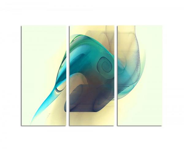 130x90cm Wandbild Abstrakt180 -3x90x40cm
