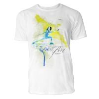 Fechten Frau Sinus Art ® T-Shirt Crewneck Tee with Frontartwork