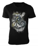 Radsport Damen und Herren T-Shirt schwarz / black