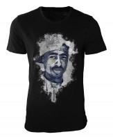 Tupac Shakur Damen und Herren T-Shirt schwarz / black