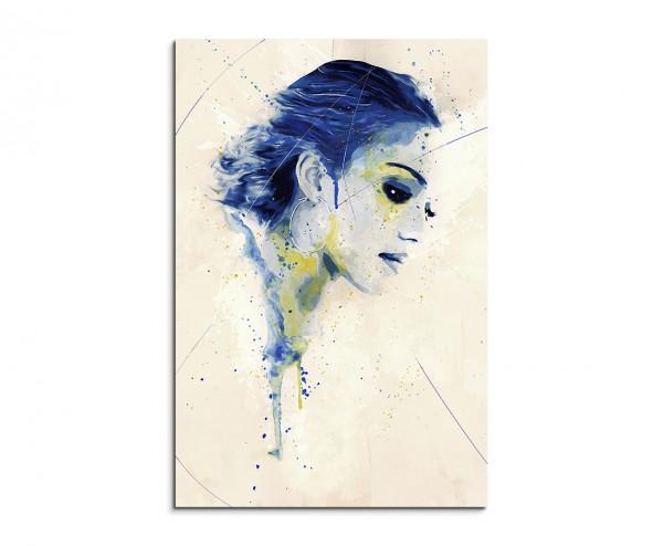 Jessica Alba Splash 90x60cm Kunstbild als Aquarell auf Leinwand