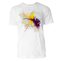 Dartwurf dunkel  Sinus Art ® T-Shirt Crewneck Tee with Frontartwork
