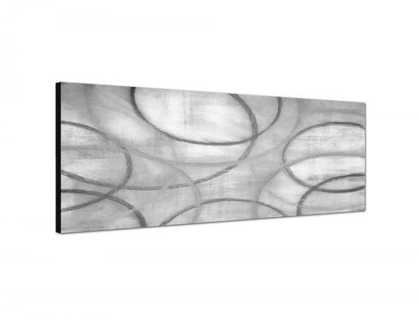 WEISS 150x50cm Malerei Kunst abstrakt gelb grau Leinwandfoto als Panorama SCHWARZ