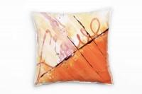 Couch Sofa Lounge Zierkissen in 40x40cm Orange Pastellgelb helles Kaminrot