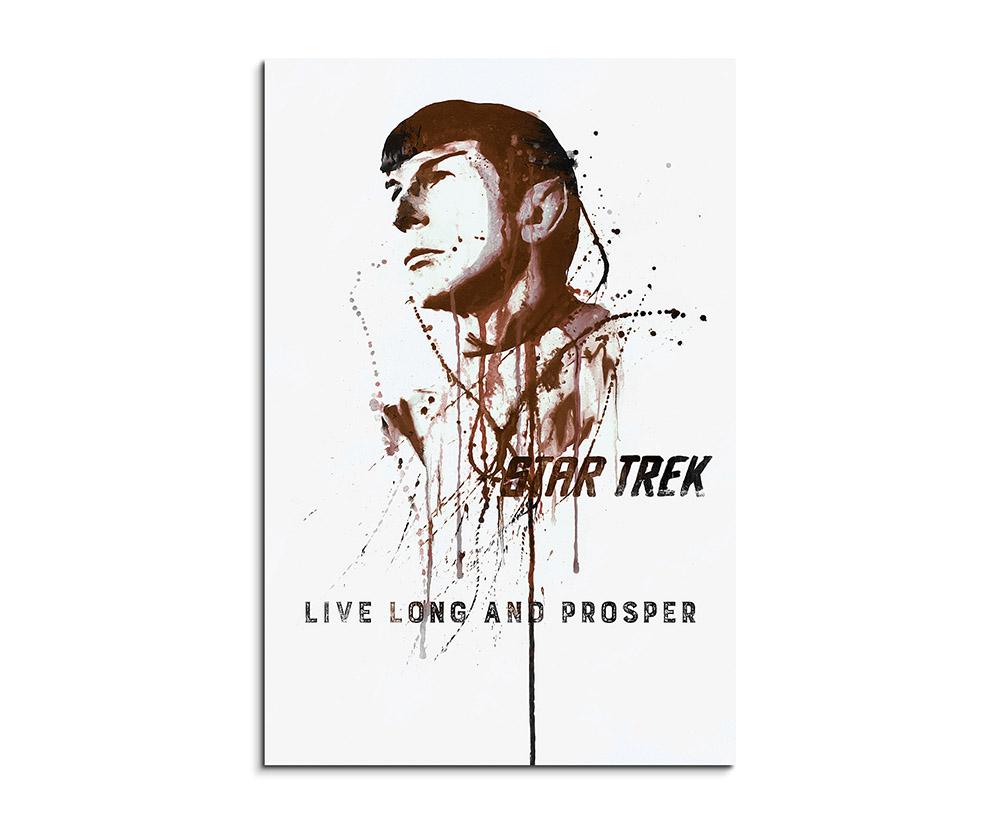 Star Trek Spock 90x60cm Aquarell Art Wandbild auf Leinwand fertig ...