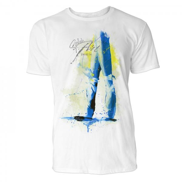 Ballerina Spitzentanz Sinus Art ® T-Shirt Crewneck Tee with Frontartwork