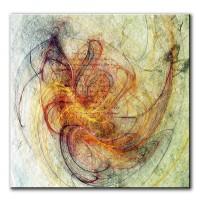 Blütenfeuer, abstrakt, 60x60cm