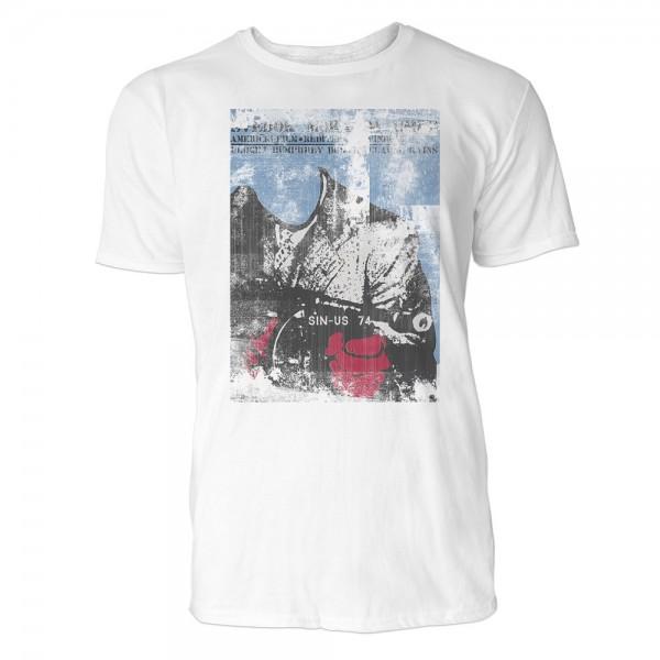 Bogart  Herren T-Shirts in Karibik blau Cooles Fun Shirt mit tollen Aufdruck