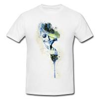 Vanessa Paradis VII Premium Herren und Damen T-Shirt Motiv aus Paul Sinus Aquarell
