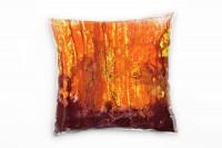 Couch Sofa Lounge Zierkissen in 40x40cm Leuchtorange Leuchtgelb Bordeauxvoilett