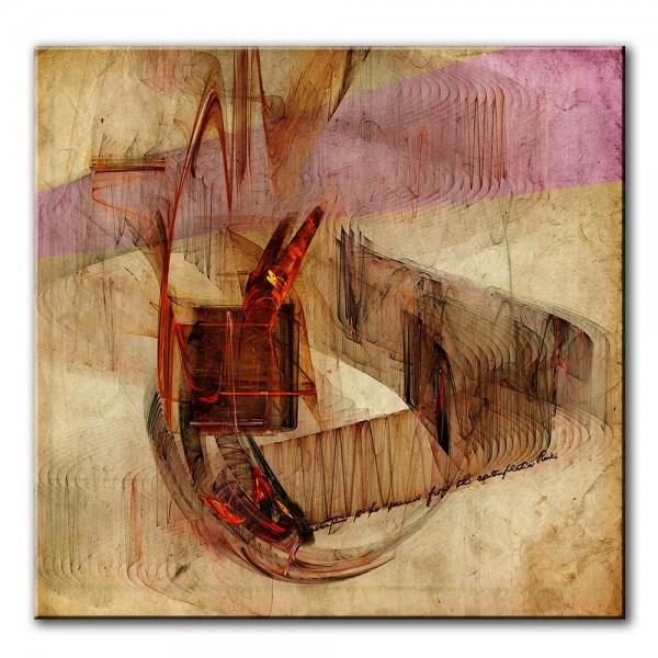 Rote Insel, abstrakt, 60x60cm