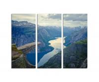 130x90cm Fjord Norwegen Berge raue Landschaft
