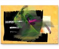 Sweet Amber - Sinus Art Wandbild auf Leinwand ENIGMA SERIE