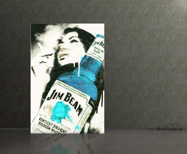SMOKE AND DRINK 80x120cm