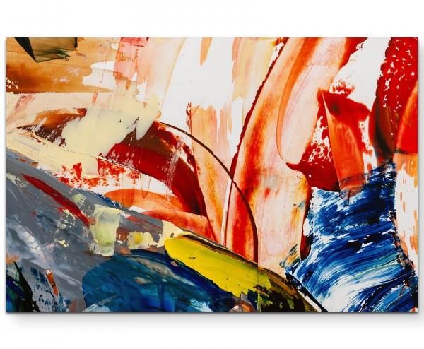 Abstraktes Bild – Pinselstriche - Leinwandbild