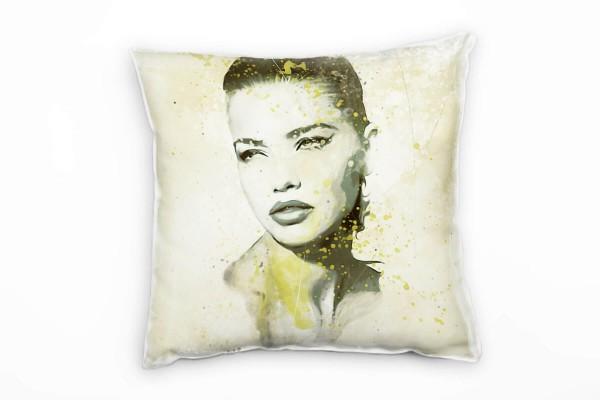 Adriana Lima I Deko Kissen Bezug 40x40cm für Couch Sofa Lounge Zierkissen