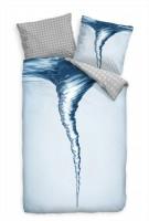 Wasserstrudel Wasser Blau Makro Bettwäsche Set 135x200 cm + 80x80cm  Atmungsaktiv