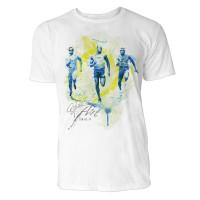 Sprinter Wettlauf Sinus Art ® T-Shirt Crewneck Tee with Frontartwork