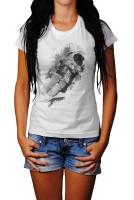 Astronaut I Herren und Damen T-Shirt BLACK-WHITE