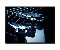 105x75cm Leinwandbild Petrol Nahaufnahme E-Gitarre I