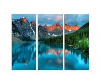 130x90cm Sonnenaufgang Berge leuchtend Nationalpark