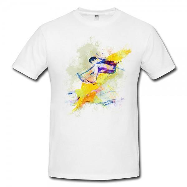 Weitsprung  Herren und Damen T-Shirt Sport Motiv aus Paul Sinus Aquarell