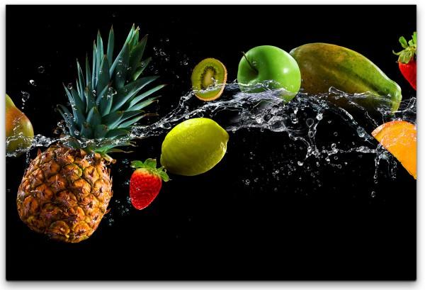 Früchte im Schwarzen Hintergrund Wandbild in verschiedenen Größen