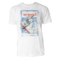 Popular Mechanics Magazine Herren T-Shirts in Karibik blau Cooles Fun Shirt mit tollen Aufdruck