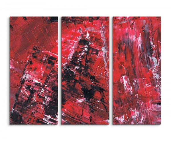 130x90cm Wandbild Abstrakt 507 -3x90x40cm