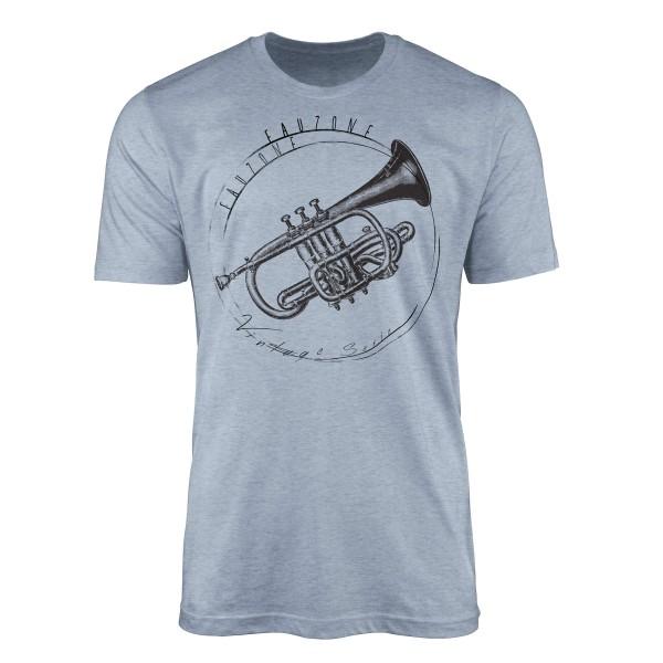Vintage Herren T-Shirt Trompete