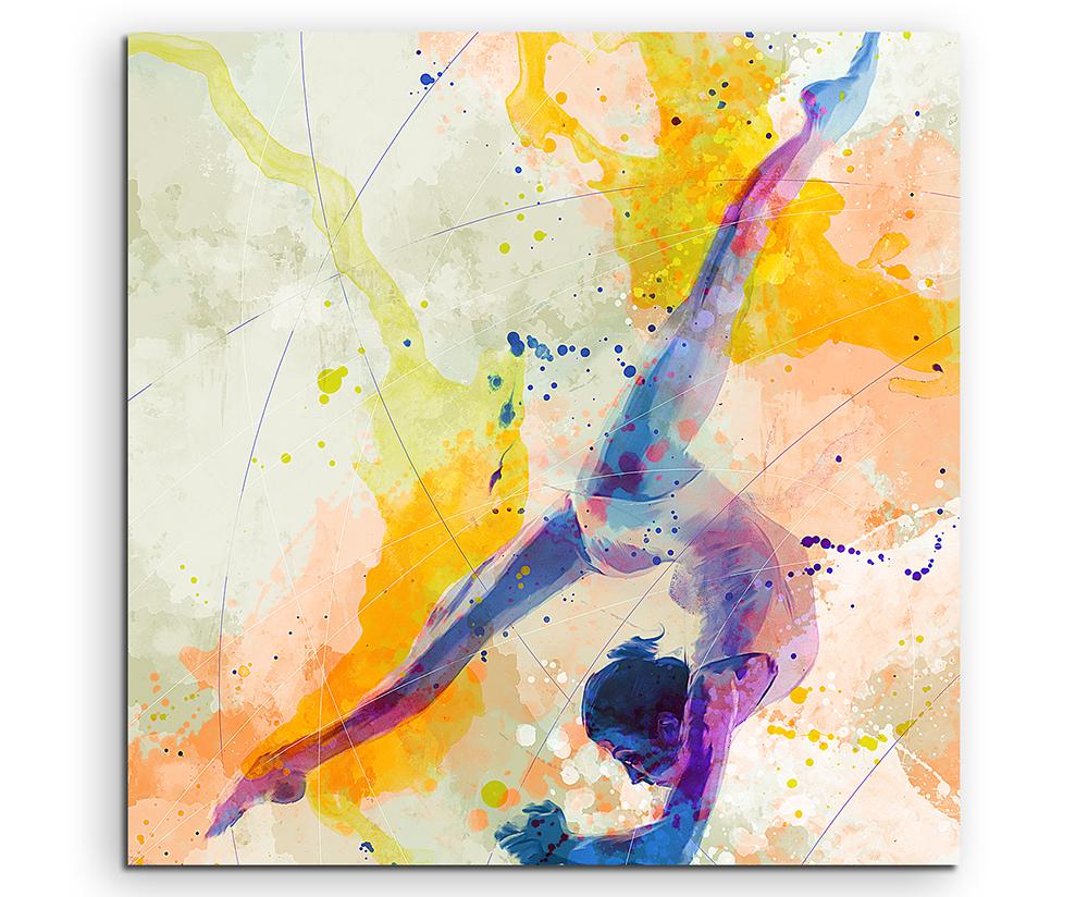 Turnen iv 60x60cm aquarell art leinwandbild sinus art einzigartige designs geschenke - Turnen mit kissen ...