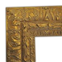 Exklusiver Echtholzrahmen in gold mit Ornamentik