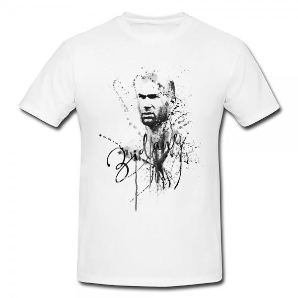Zindine-Zidane-III Herren und Damen T-Shirt BLACK-WHITE