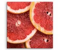 Food Fotografie – Aufgeschnittene Grapefruit auf Leinwand exklusives Wandbild moderne Fotografie für