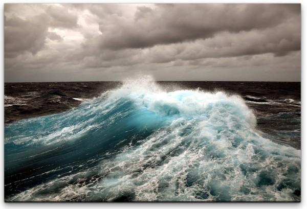 dunkle Meereswellen Wandbild in verschiedenen Größen