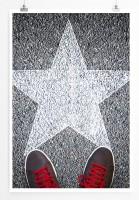 60x90cm Poster Künstlerische Fotografie – Sneakers und Stern