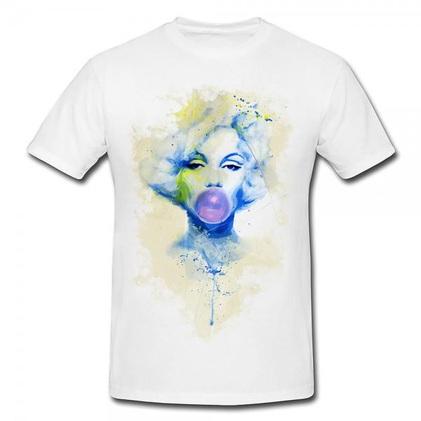 Marilyn Monroe VII Premium Herren und Damen T-Shirt Motiv aus Paul Sinus Aquarell