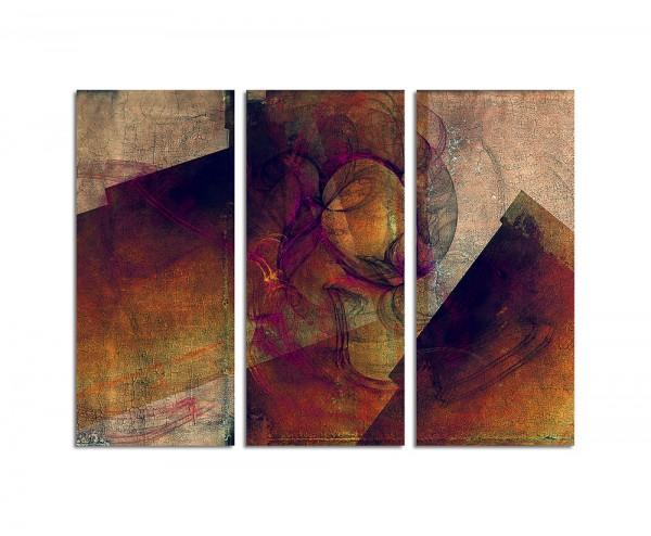 130x90cm Wandbild Abstrakt185 -3x90x40cm