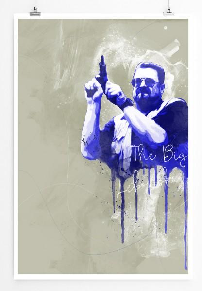 The Big Lebowski 90x60cm Paul Sinus Art Splash Art Wandbild als Poster ohne Rahmen gerollt