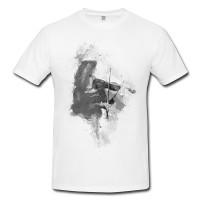 Violine Player Herren und Damen T-Shirt BLACK-WHITE