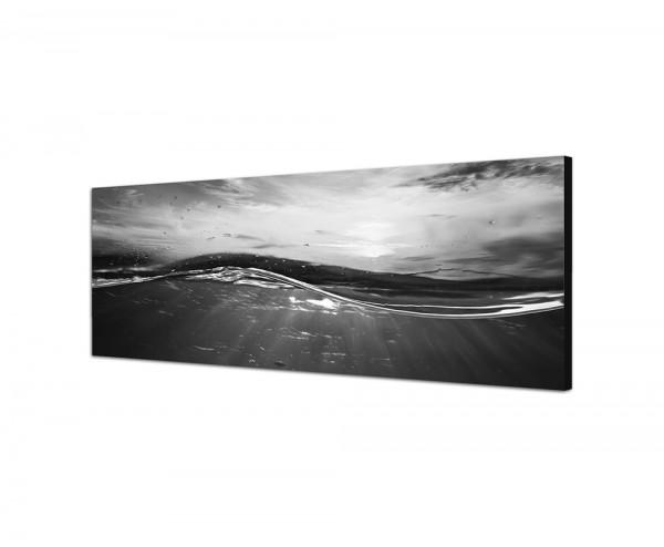 150x50cm Wasser Welle Sonnenuntergang Luftblasen