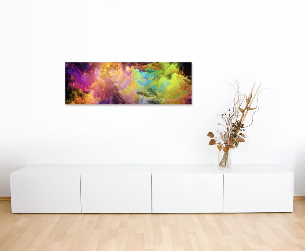Knallige bunte Farbwolken auf Leinwand | eBay