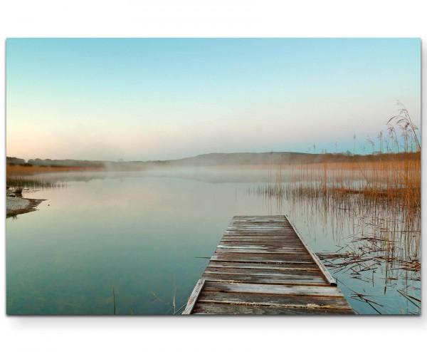 Landschaftsfotografie – Sonnenaufgang im Nebel - Leinwandbild